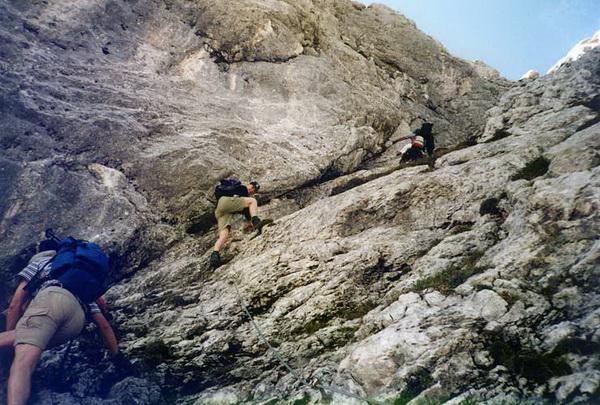Klettersteig Lamsenspitze : Klettersteig beschreibung brudertunnel