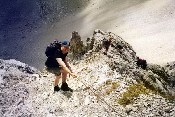 Klettersteig Lamsenspitze : Klettersteig beschreibung lamsenspitze normalweg