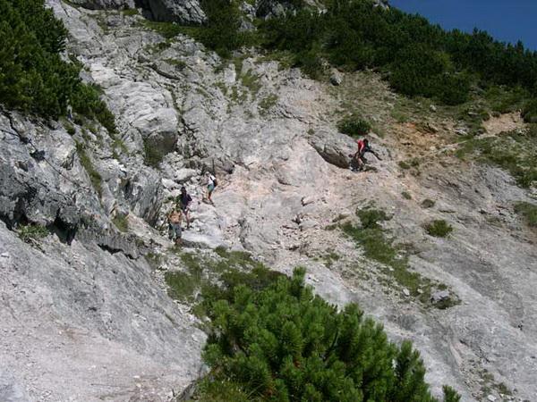 Klettersteigset Notwendig : Klettersteig.de klettersteig beschreibung hüttenanstieg passauer