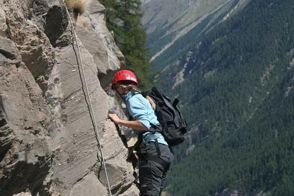 Klettersteig Adelboden : Chäligang klettersteig