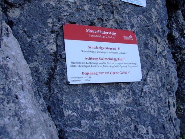 Klettersteig Y : Klettersteig.de klettersteig beschreibung mauerläufersteig