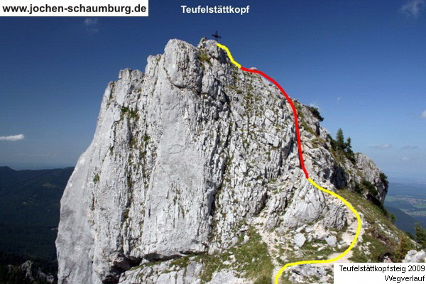 Klettersteig Oberammergau : Klettersteig beschreibung teufelstättkopf steig