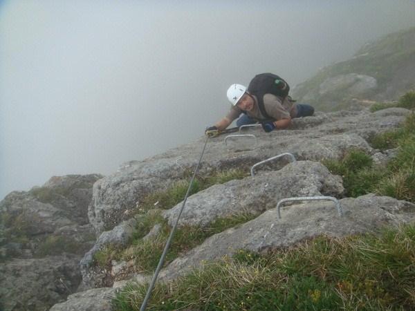 Klettersteig Zittergrat : Klettersteig beschreibung fruttlisteig