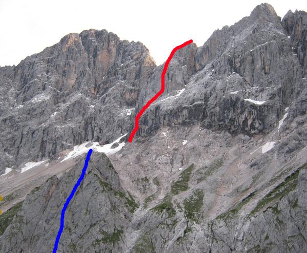 Klettersteig Johann Dachstein : Klettersteig.de klettersteig beschreibung anna