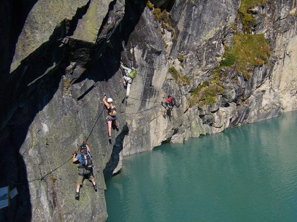 Klettersteig Seewand : Klettersteig beschreibung kristall