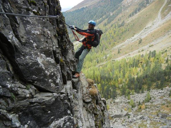 Klettersteig Quarzit Wand : Klettersteig beschreibung anton renk
