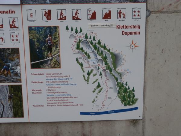 Klettersteig Verborgene Welt : Klettersteig.de klettersteig beschreibung dopamin