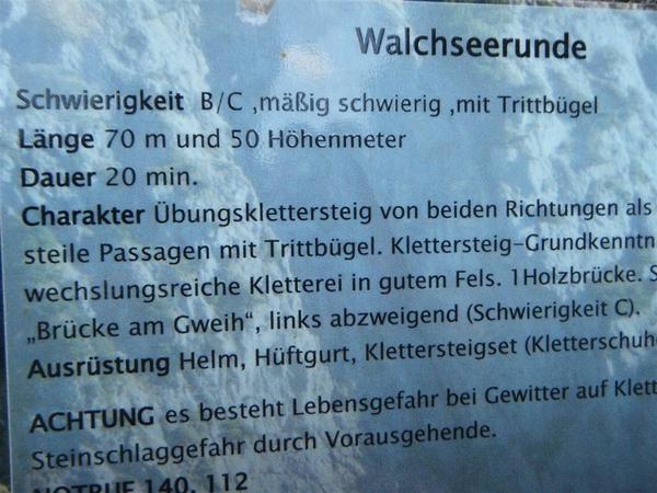 Klettersteig Walchsee : Klettersteig beschreibung walchsee runde