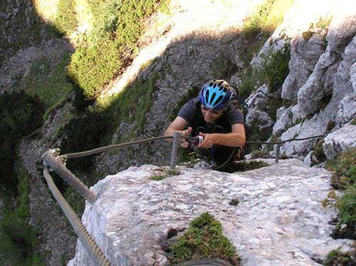 Klettersteig Traunstein : Klettersteig.de klettersteig beschreibung traunsee