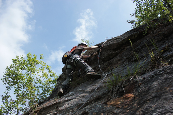 Klettersteig Nrw : Klettersteig beschreibung muskelteufel