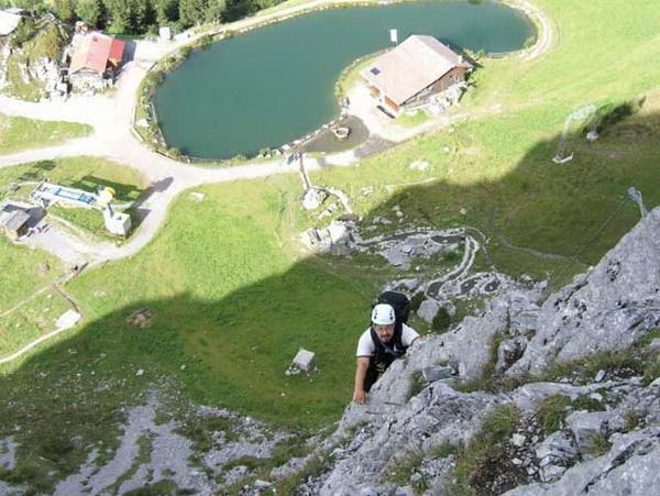 Klettersteig Zittergrat : Klettersteig beschreibung brunnistöckli