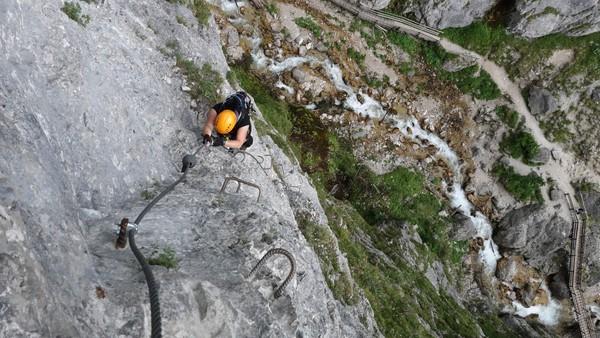 Klettersteig Ramsau : Klettersteig.de klettersteig beschreibung rosina