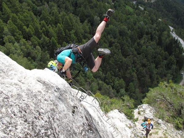 Klettersteig Wallis : Klettersteig beschreibung via ferrata du belvedere