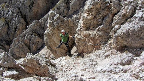 Sass Rigais Klettersteig Villnöss : Klettersteig beschreibung sass rigais