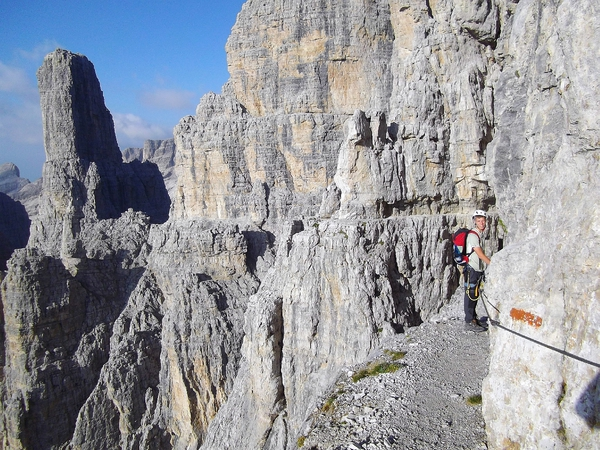 Klettersteigset Leihen : Klettersteig.de klettersteig beschreibung sentiero delle