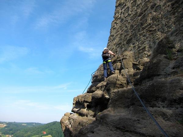 Klettersteig Riegersburg : Klettersteig beschreibung leopold