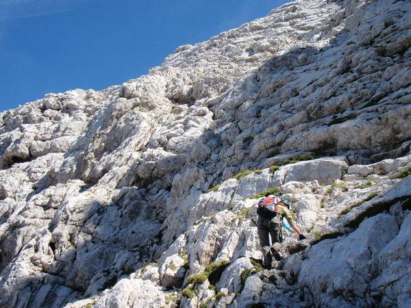 Klettersteig Soca Quelle : Klettersteig.de klettersteig beschreibung kriska stena
