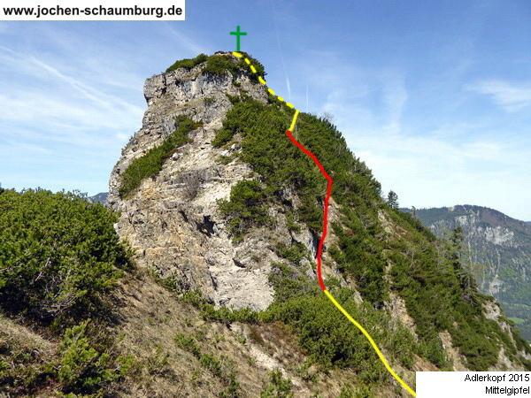 Klettersteig Chiemgau : Klettersteig.de klettersteig beschreibung adlerkopf