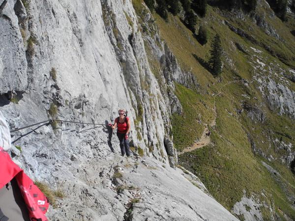 Klettersteig Wolfgangsee : Klettersteig beschreibung purtschellersteig