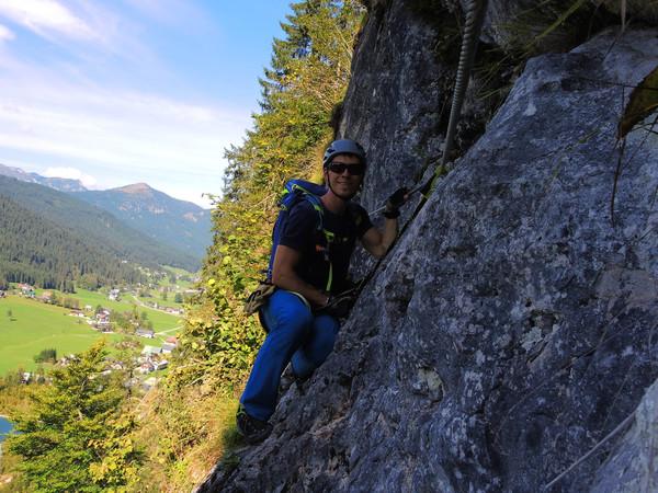 Klettersteig Gosau : Klettersteig beschreibung max und moritz