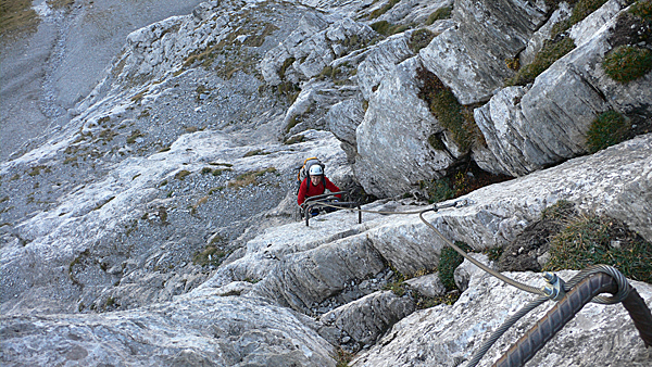 Klettersteig Grindelwald : Klettersteig beschreibung ostegg hütten