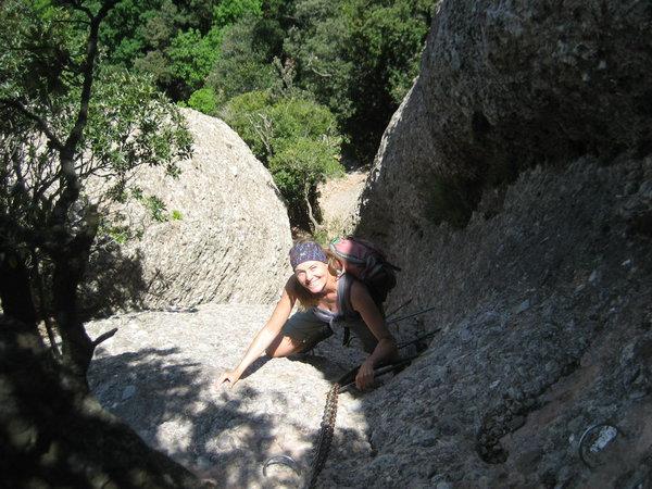 Klettersteig Y : Klettersteig.de klettersteig beschreibung agulles y frares encantats