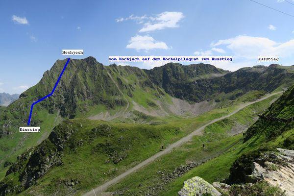 Klettersteig Hochjoch : Klettersteig beschreibung