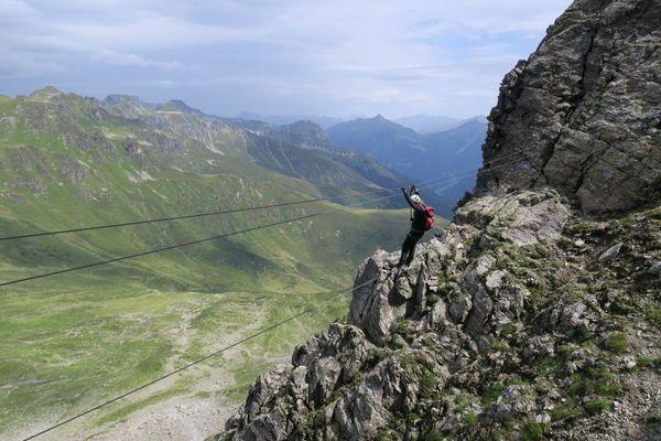 Vaude Klettersteig : Erfahrungsbericht u vaude klettersteig camp drahtseilakt am