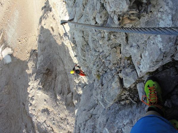 Klettersteig Rakousko : Klettersteig.de klettersteig beschreibung irg 2