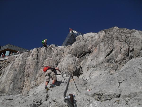 Klettersteig Rakousko : Klettersteig beschreibung hunerkogel