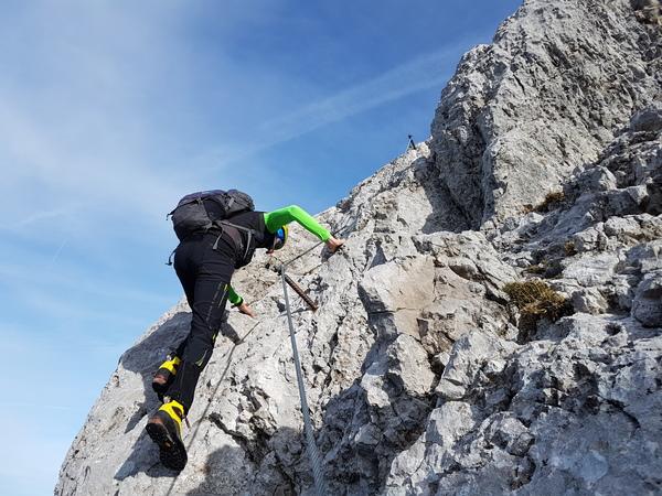 Klettersteig Johann : Eisenkrone jubiläumssteig klettersteig klamml tag