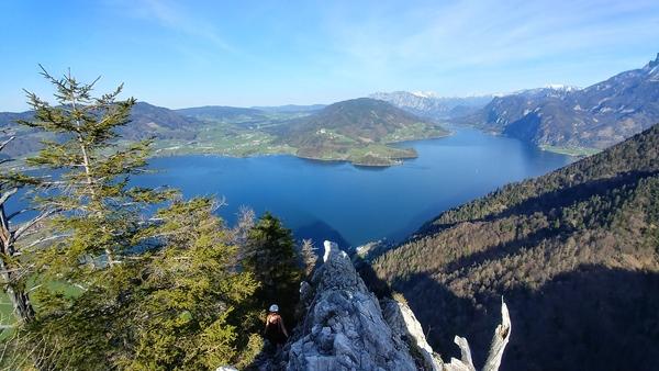 Klettersteig Mondsee : Klettersteig beschreibung drachenwand