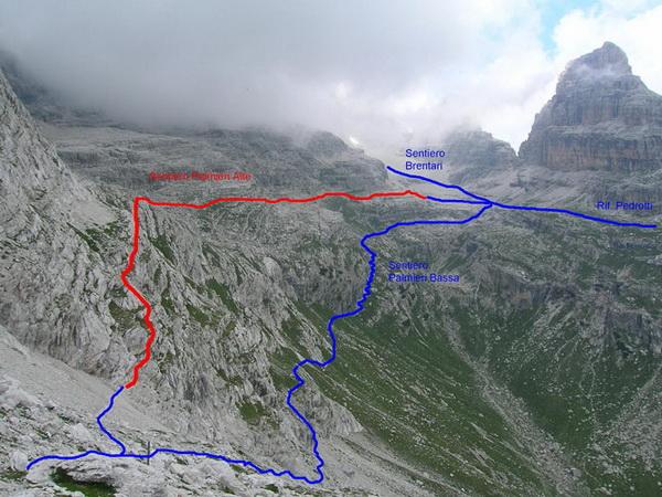 Klettersteig Map : Klettersteig beschreibung sentiero elio