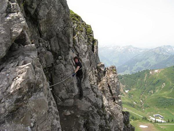 Klettersteig Besler : Klettersteig beschreibung walsersteig kanzelwand