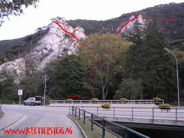 Mödlinger Klettersteig : Klettersteig beschreibung mödlinger