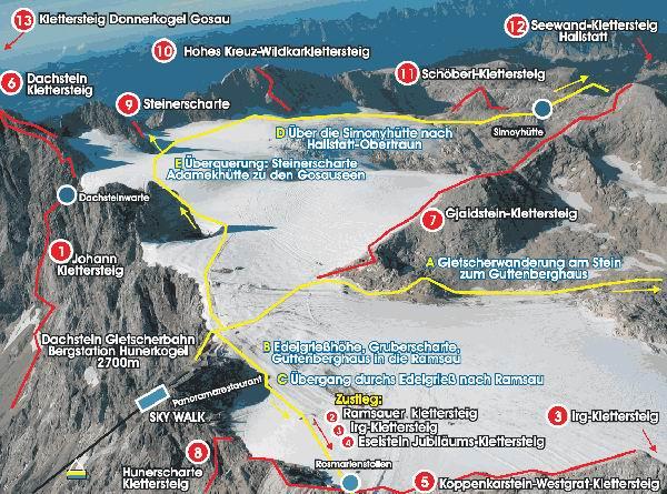 Klettersteig Karte : Klettersteig beschreibung Übergang