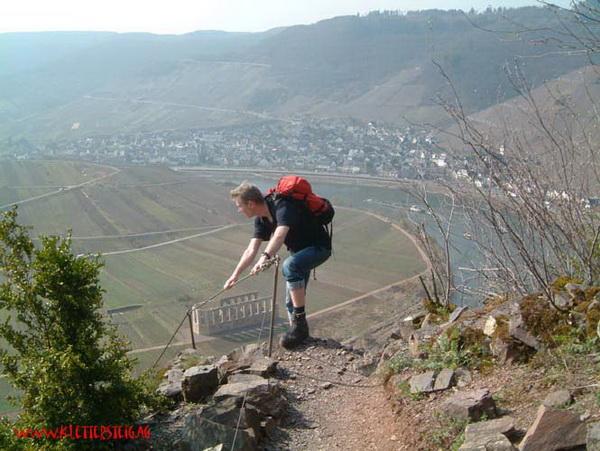 Klettersteig Cochem : Klettersteig beschreibung calmont