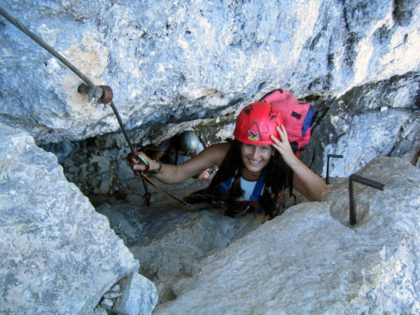 Klettersteig Soca Quelle : Prisojnik nordwand klettersteig fensterweg