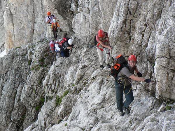 Klettersteig Soca Quelle : Klettersteig.de klettersteig beschreibung mala mojstrovka