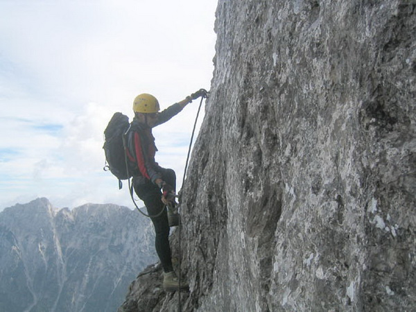 Klettersteig Soca Quelle : Klettersteig.de klettersteig beschreibung via italiana