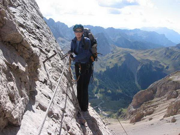 Klettersteig Magnifici Quattro : Hans seyffert weg westgrat klettersteig