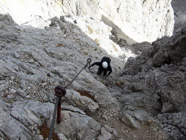 Klettersteigset Unterschiedlich Lang : Klettersteig.de klettersteig beschreibung oskar schuster