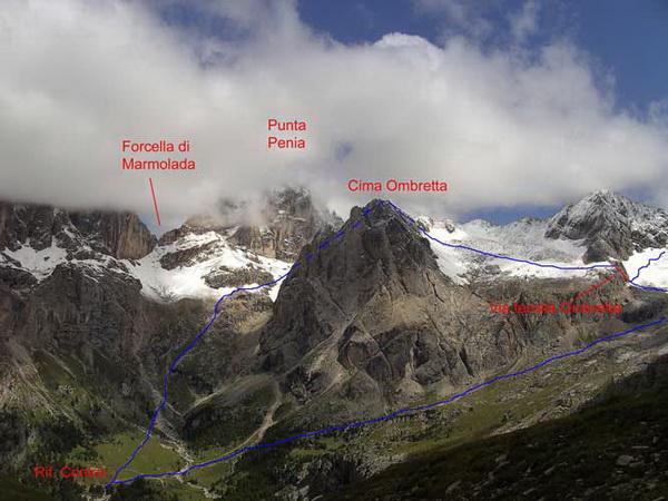 Klettersteig Magnifici Quattro : Klettersteig.de klettersteig beschreibung ombretta