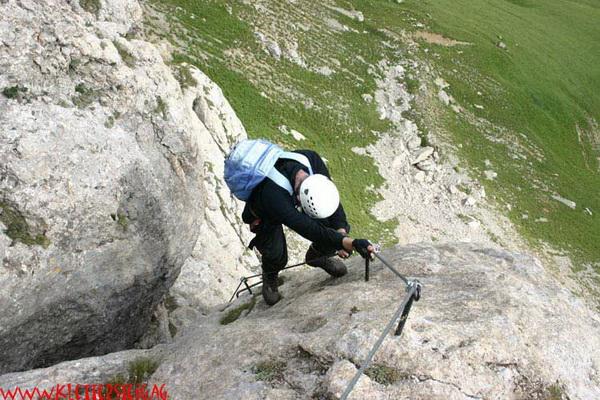 Klettersteig Magnifici Quattro : Klettersteig.de klettersteig beschreibung rodella