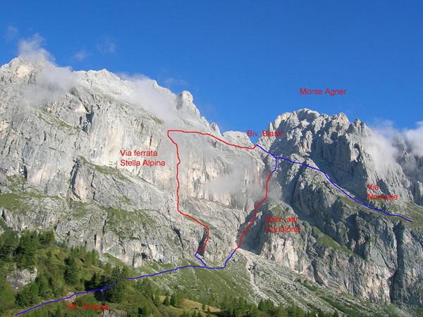 Klettersteig Ferrata : Klettersteig.de klettersteig beschreibung via ferrata stella alpina