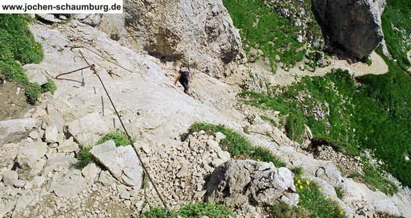 Klettersteigset Rot : Klettersteig.de klettersteig beschreibung rote flüh Überschreitung