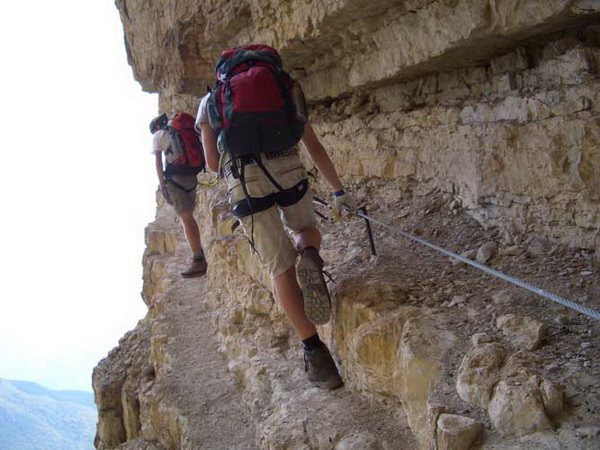Klettersteig Via Ferrata : Kapf klettersteig via c d ferrata