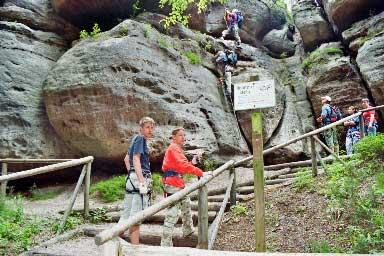 Klettersteig Jonsdorf : Klettersteig beschreibung nonnensteig