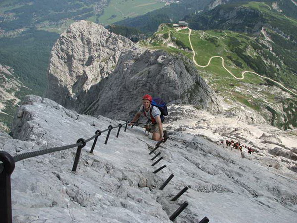 Klettersteig Höllental : Klettersteig beschreibung alpspitz ferrata