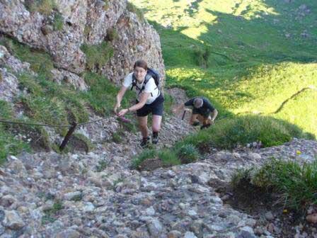 Klettersteig Speer : Klettersteig beschreibung speer nordwandsteig